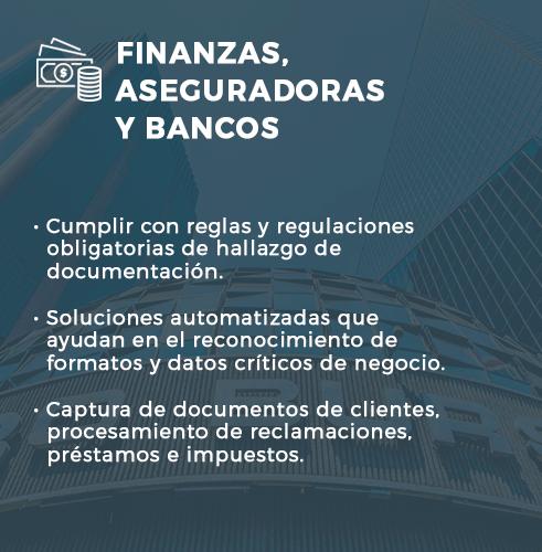 Finanzas, Aseguradoras y Bancos